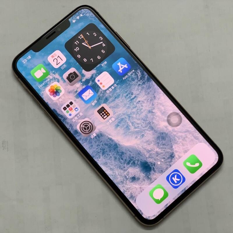 编号5383 二手9新 苹果手机/iPhoneXS Max 512G 金色  美版卡贴 全网通4G