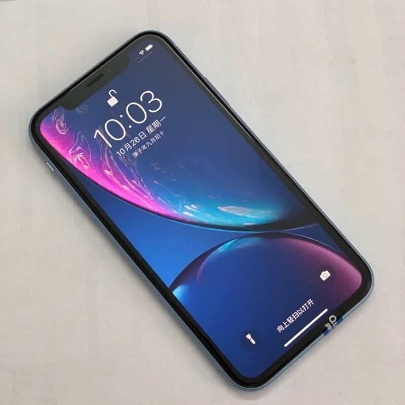 编号6161 二手95新 iPhone XR 64G 蓝色  美版卡贴机  全网通4G
