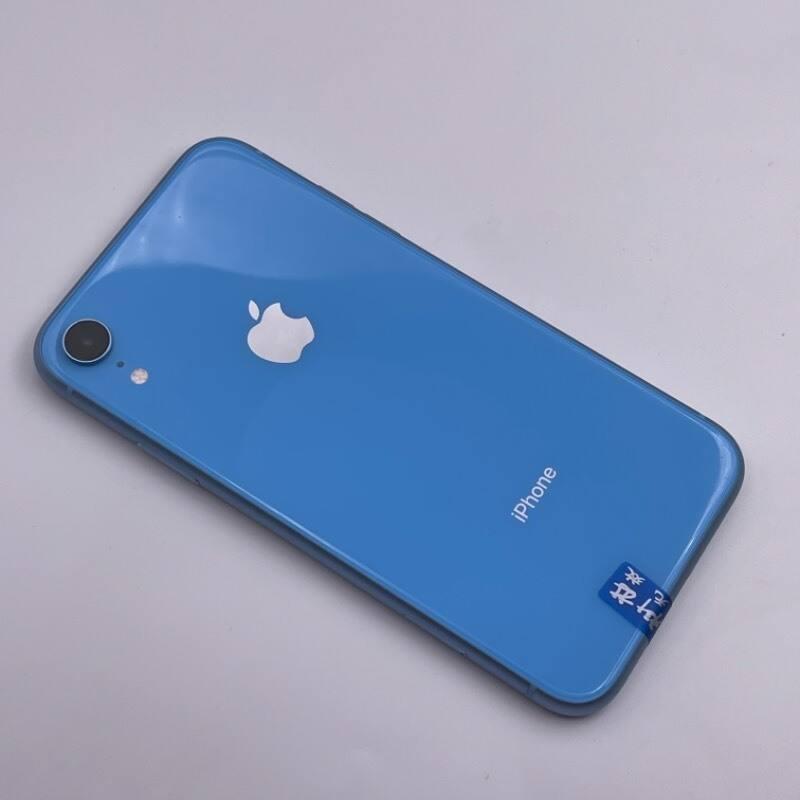 95新 苹果/iPhone XR 128G  海外版 全网通4G 蓝色 编号9958